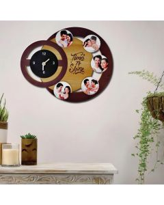 Wall Clock with 5 Tile