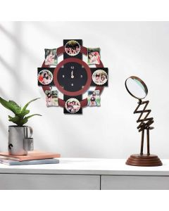 Wall Clock With 8 Tile