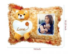 Brown Teddy Pillow