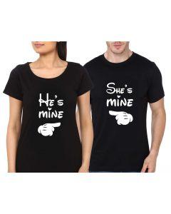 Personalised Black Couple Tshirt