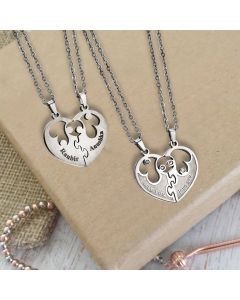 Couple Pendant With Name Engraving