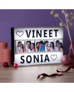 Personalised Cinematic Light Box A4 Size