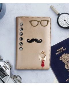 Gold color Passport cover