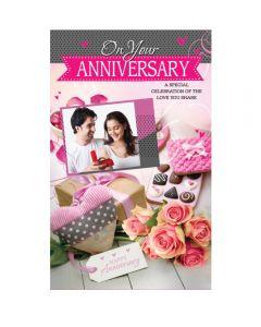 Customised Anniversary Greeting Card