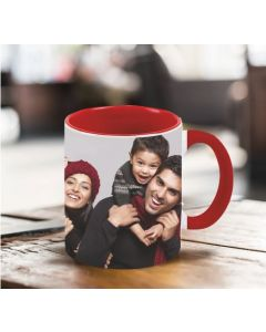 in. Red Mug