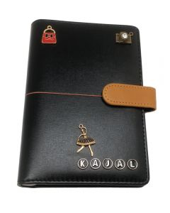 Name Personalised Charm Black Diary