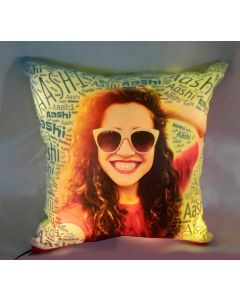 LED Pillow with name mosaic
