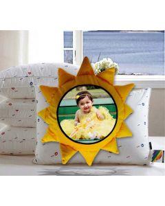 Sun shaped pillow cushion